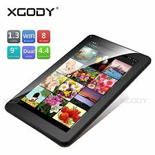 """9"""" inch Android 4.4 KitKat Tablet PC Quad Core 8GB Dual Camera WiFi Bluetooth A7"""