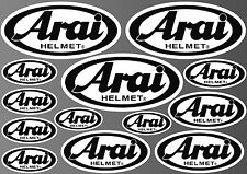 13x ARAI HELMET STICKER SHEET DECALS STICKERS VINYL SPONSOR KIT BIKE MOTORCYCLE
