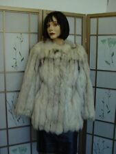 $PRE-OWNED NORWEGIAN FOX FUR JACKET COAT WOMEN SZ 4-6