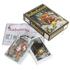 1 Set Vintage Saboteur Pinochle Card Board Game Kid Path Action Gold Stone Fun