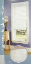 """2 NEW White Sheerview Window Shading Blind 31"""" X 75"""" lot of 2"""