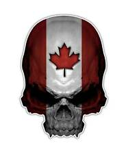 2 Canadian Skull Decal - Canada Flag Skull Sticker Maple Leaf ipad graphic
