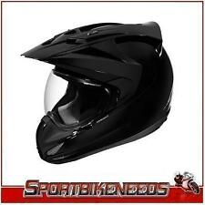 Icon Variant Solid Gloss Black Helmet New Medium MD