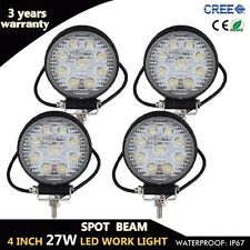 4X 4inch 27W LED Round Work Light Spot Lamp Jeep Tractor Truck SUV UTE Offroad