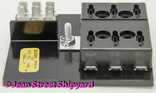 ATO ATC Marine Boat RV Fuse Panel Terminal Block 6 Gang & Ground Bussmann 15600