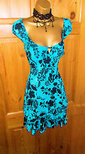 Jane Norman SEXY GYPSY Dress Size 14 - 12 scollato Wiggle cinesi Ra ra Prom Party