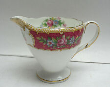 FOLEY CHINA - TUDOR / RED Pattern - CREAMER