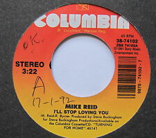 """MIKE REED - I'll Stop Loving You - Excellent Con 7"""" Single Columbia 38-741027"""