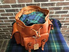 VINTAGE ITALIAN BASEBALL GLOVE LEATHER RUCKSACK BACKPACK BAG R$1198