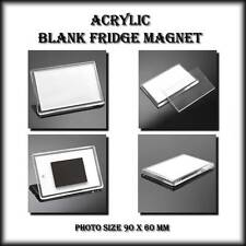 4 X JUMBO BLANK FRIDGE MAGNETS 89 x 59 mm - MAKE YOUR OWN - WHOLESALE