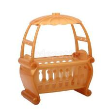 Crib Cot Canopy Bed for Barbie sister Kelly nursery Doll house Miniature