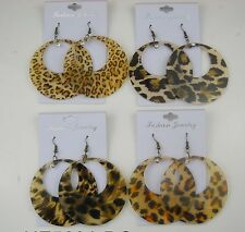 fashion jewelry lot 6 pcs animal print drop/dangle earring  wholesale lot #12