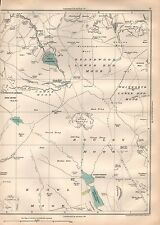 1935 LANCASHIRE LARGE SCALE MAP-COWPE RESERVOIR, NADEN RESERVOIRS