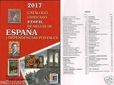 CATALOGO EDIFIL SELLOS DE ESPAÑA Y EX DEPENDENCIAS POSTALES 2017  ULTIMA EDICION
