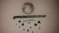 Columbia River Copper Bead And Trade Beads With Paperwork And Dentalium Shell