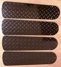 "New DIAMOND PLATE BLACK GARAGE MOTORCYCLE TRUCK 42"" Ceiling Fan BLADES ONLY"