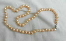 Pink Japanese Cultured Pearl Necklace