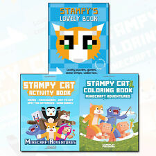 Stampy Cat Collection Minecraft Adventures 3 Books Set Stampy's Lovely Book NEW