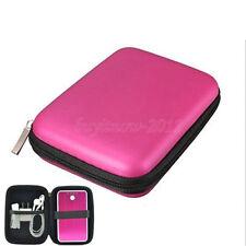 2.5 Zoll HDD Hardcase Tasche für externe Festplatte Schutzhülle für PC  in Rose