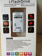 Clearance 8 & 30 Pin i-Flash Storage/Card Reader For iPhone 4/4S 5/5S/5C/6