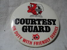 vintage RED OWL STORES Guard  Pinback Button