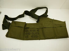 VTG FEB 1969 CAL 30 Ball M2 8 RD CLIPS LC 42699 6 POUCH BAG AMMO BANDOLEER GREEN