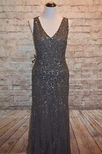 Modcloth The Gift of Glam Maxi Dress NWT sz 12 $250  Beaded Gatsby Downton Grey