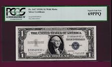 Fr.1617  $1  1935 G WITH MOTTO   SILVER CERTIFICATE NOTE  PCGS 69 MONSTER GRADE