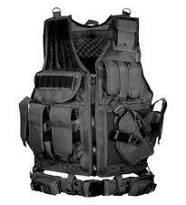 Leapers UTG 547 Law Enforcement Tactical Vest, Black Fully Adjustable PVC-V547BT