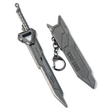 Movie Iron Man Sword Weapon Model Alloy Keychain Key Ring Pendant Collect Gift