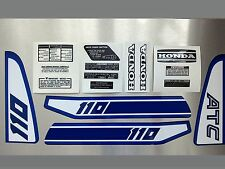 Honda ATC 110 Stickers Set Warning Advice For Vintage Trike 1981 Sticker