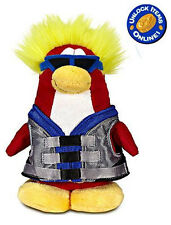 """Water Sport Club Penguin 6.5"""" Plush Soft Toy w/ Coin Code Disney 
