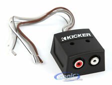 Kicker KISLOC 2-Channel K-Series Speaker Cable to RCA Adapter w Line Out Convter