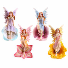 Set of 4 Flower Fairies - Garden Home Ornament Enchanted Fairy Figurines