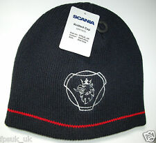 Genuine Scania Griffin Logo Navy Truck Beanie Cap Hat One Size Men's Mens New