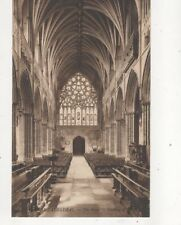 Exeter Cathedral The Nave Looking West [LL 9] Vintage Postcard 333b