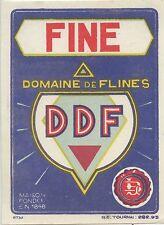 ETIQUETTE / FINE DOMAINE DE FLINES / TOURNAIS