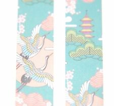Japanese WASHI Tape ~ 7m x 15mm ~ Flying Cranes ~ Blue Pink ~ embellishment