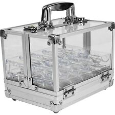 600 Chip Capacity Clear Acrylic Case with 6 Trays - Trademark Poker™
