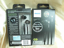 Philips TX1 Black In-Ear Clear Natural Sound Headphone Earphone with Mic