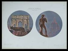 VUES DE ROME FLORENCE -1910- LITHOGRAPHIE, MARIO STROPPA
