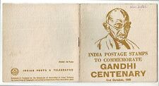 India-4 Diff. Value Stamps with Gandhi Cent. Folder, New Delhi Post mark #G35
