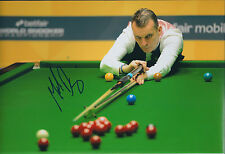 Mark DAVIS AUTOGRAPH 12x8 Signed Photo AFTAL COA SNOOKER Sheffield Crucible 2014