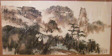 Gu Quan (b.1934) Asian large original landscape painting Chinese artist China