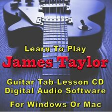 JAMES TAYLOR Guitar Tab Lesson CD Software - 21 Songs