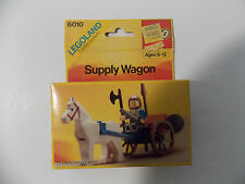 New 1985 LEGO Set 6010 Supply Wagon Legoland Castle System Factory Sealed