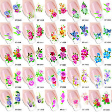 50pcs/lot Mixed Flower Floar Design Water Transfer Nail Stickers Decals Fashion