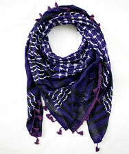 Hirbawi Purple Arabic Scarf Made in Palestine Authentic Shemagh Keffiyeh Hatta