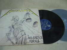 "METALLICA(KOREA 2 VINYL LP 12"")AND JUSTICE FOR ALL orig 1988 9TRACKS VERTIGO"