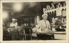 Occupation Lunch Counter Waiter & Cook Signs Cash Register Visible RPPC